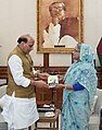 The Union Home Minister, Shri Rajnath Singh calling on the Prime Minister of Bangladesh, Ms. Sheikh Hasina, in Dhaka, Bangladesh on July 14, 2018 (1).JPG