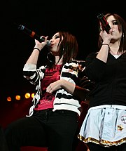 The Veronicas performing in 2005.
