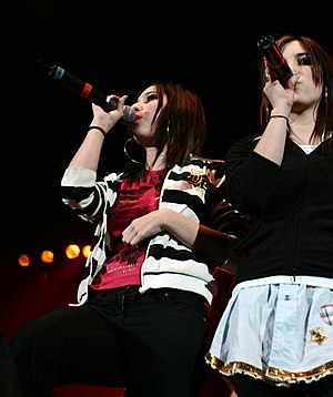 The Veronicas in concert at the KISS 106.1 Jin...