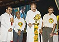 The Vice President, Shri M. Venkaiah Naidu lighting the lamp at the Founder's Day Celebrations of Andhra Education Society, in New Delhi on July 15, 2018.JPG