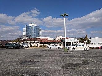 Calverton, Maryland - The Villa and Calverton Tower in March 2018