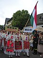 The ZORA Folkdancegroup of Mohács in Hungarian traditional ethnic costume, 2008 Wisła.JPG