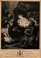 The adoration of the shepherds at the birth of Christ; a she Wellcome V0034622.jpg