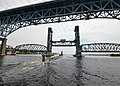 The attack submarine USS Missouri (SSN 780) passes under the Gold Star Bridge as it departs Naval Submarine Base New London in Groton, Conn., June 18, 2013, for a scheduled deployment 130618-N-ZZ999-213.jpg