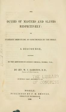 The duties of masters and slaves respectively (1845).djvu