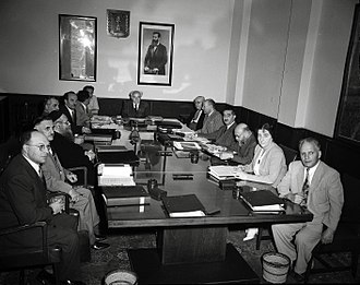 Israeli legislative election, 1955 - Golda Meir at first session of the Third Knesset (1951)