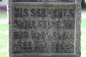 Dugald Mackichan - The inscription on Dugald Mackichan's grave, Dean Cemetery