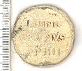 The reverse of a papal bulla of Innocent IV, dating from AD 1243-1254. (FindID 100233).jpg