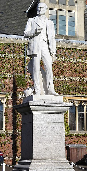 Thomas Hughes - Statue of Thomas Hughes at Rugby School