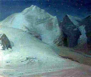 Thomas Millie Dow - Thomas Millie Dow: Moonlight In The Alps (1888)