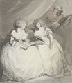 Thomas Rowlandson, Portrait of the Spencer Sisters (1790).tif
