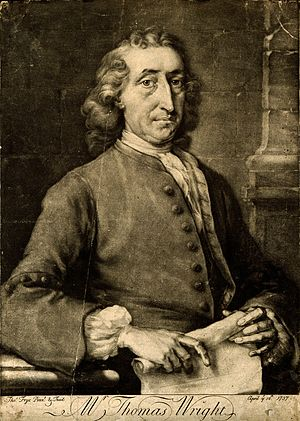 Thomas Wright (astronomer) - Thomas Wright in 1737