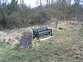 Three memorials, stone, seat, and new Bocase Tree - geograph.org.uk - 323749.jpg