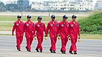 Thundertigers Crew Chiefs Marching on Hsinchu AFB Apron 20151121.jpg