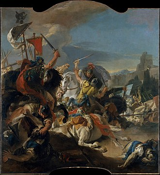 Battle of Vercellae - Giovanni Battista Tiepolo, The battle of Vercellae, from the Ca' Dolfin Tiepolos, 1725-1729