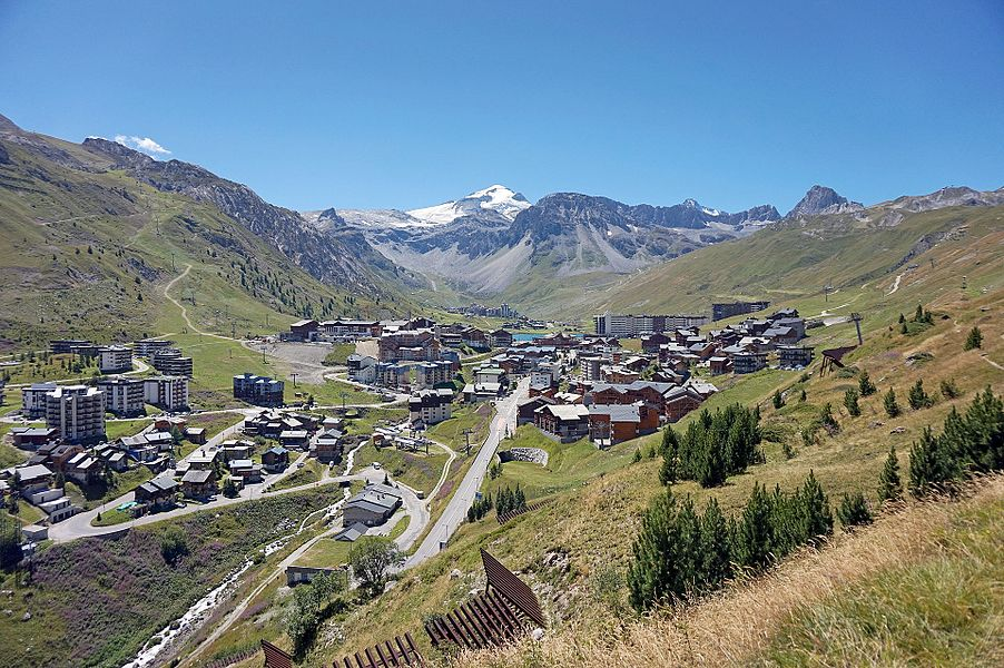 View to Tignes, France.