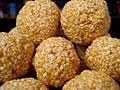 Til Ke Laddu, a traditional dessert snack food for winter solar festival of Makar Sankranti.jpg