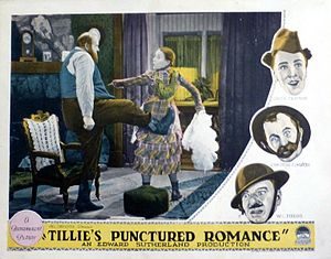 Tillie's Punctured Romance (1928 film) - Image: Tillie's Punctured Romance lobby card