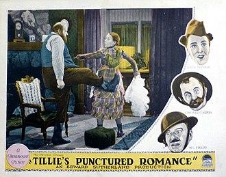Tillie's Punctured Romance (1928 film) - Lobby card