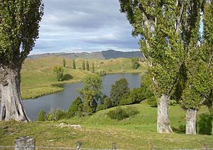Tiniroto - Lake Karangata near Tiniroto