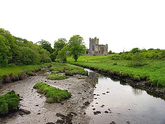 Tintern Abbey (County Wexford) - The Abbey grounds and river