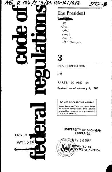 File:Title 3 CFR 1985 Compilation.djvu