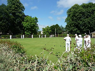 Bowling - Playing bowls at Tiverton West End Bowling Club, United Kingdom