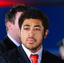 Description de l'image Toby Faletau. Wales Grand Slam Celebration, Senedd 19 March 2012.jpg.