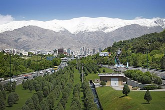 Green belt - Afforestation beyond an expressway in Tehran, Iran