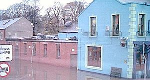 River Tolka - Flooding from the Tolka at Drumcondra, Dublin, in April 2005.