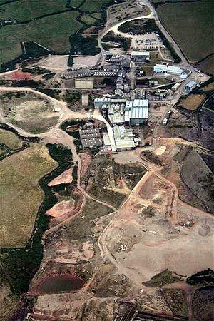 Geevor Tin Mine - Geevor seen from the air