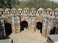 Tomb of Ghiyasuddin Tughlaq - The other, open-air side tomb space (3318214357).jpg