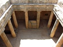Tombs of the Kings Paphos Cyprus Tomb 3 1.JPG