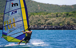 Mistral One Design - A windsurfer in action.