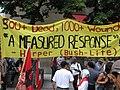 Toronto protest banner criticising Harper's Israel-Lebanon response.jpg