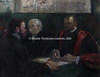Toulouse-Lautrec - UN EXAMEN A LA FACULTE DE MEDECINE DE PARIS, 1901, MTL.216.jpg