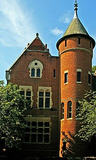 Late Victorian townhouse in the Holland Park district, London, built by William Burges