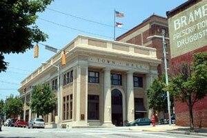 North Wilkesboro, North Carolina - Town Hall in downtown North Wilkesboro