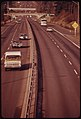 Traffic Flow on the Salem Freeway of Interstate -5 South of Tigard, Oregon on Sundays Was Reduced to a Fraction of the Normal Load Because of the Sunday Ban on Gasoline Sales During the Fuel Shortage 12-1973 (4271749509).jpg