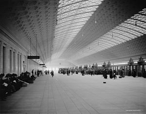 Washington Union Station - Train concourse, circa 1915