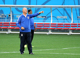 Luiz Felipe Scolari - Luiz Felipe Scolari overseeing a training session at the 2014 FIFA World Cup