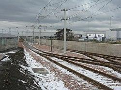 Tram terminus at Edinburgh Airport (geograph 3367717).jpg