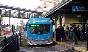 University train of La Plata - Former Tecnotren rolling stock.