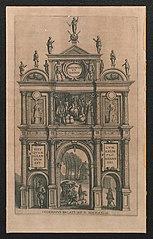 Triomfboog als ingang van het paleis bij St. Michiels