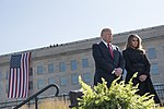 President Donald J. Trump and First Lady Melania Trump participate in a Sep 11 observance at the Pentagon
