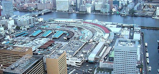Tsukiji as seen from Shiodome