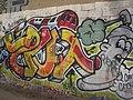 Tube-themed graffiti, Trellick Tower, Elkstone Road W11 - geograph.org.uk - 1563263.jpg