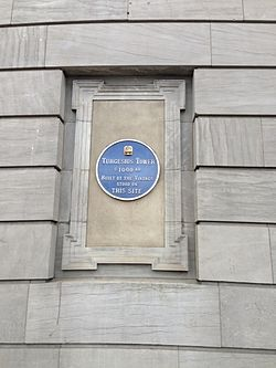 Photo of Turgesius Tower blue plaque
