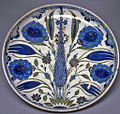 Turkish - Iznik Fritware Plate - Walters 482057.jpg