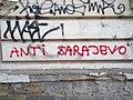 Tuzla - Anti Sarajevo graffiti (2019).jpg